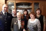 С 93-им днём рождения поздравили участника ВОВ Алексея Федоровича Шекера