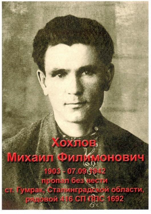 Фото Хохлов Михаил Филимонович